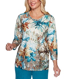 Walnut Grove Floral-Print Top