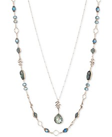 "Gold-Tone Stone & Bead 28"" Layered Necklace"