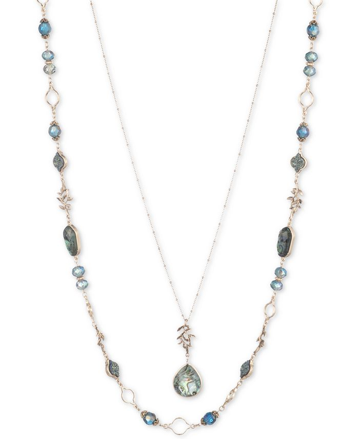 """lonna & lilly - Gold-Tone Stone & Bead 28"""" Layered Necklace"""