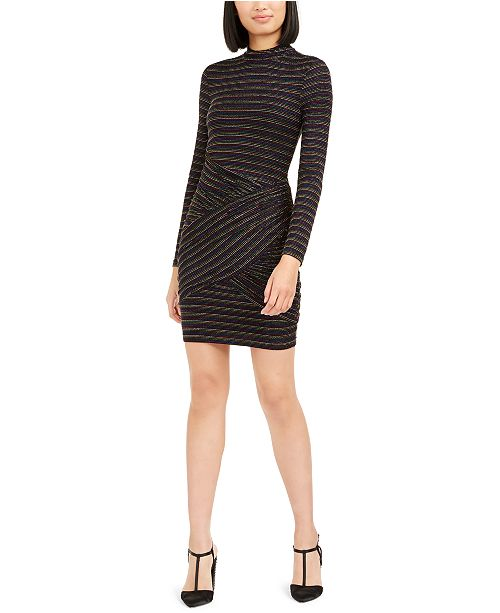 Trina Turk Golden Metallic-Stripe Bodycon Dress