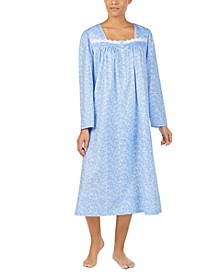 Cotton Jersey-Knit Lace-Trim Ballet Nightgown