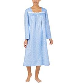 Eileen West Cotton Jersey-Knit Lace-Trim Ballet Nightgown