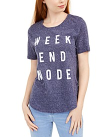 Juniors' Weekend Mode Marled Graphic T-Shirt