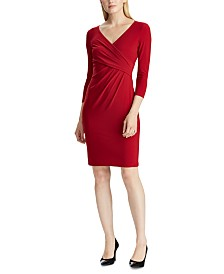Lauren Ralph Lauren Jersey Three-Quarter-Sleeve Dress