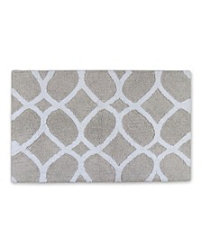 "BCBG Maxazria Interlocked Ogee 20"" x 30"" Bath Rug"