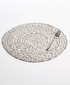 Round Gray Chevron Placemat