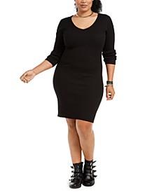 Trendy Plus Size Lace-Up-Back Bodycon Dress