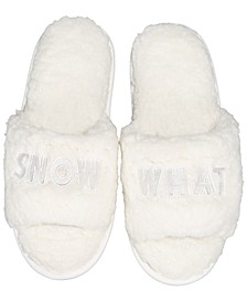 Women's Snow What Sherpa Slippers, Created For Macy's