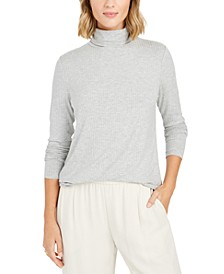 Petite Heathered Turtleneck, Created For Macy's
