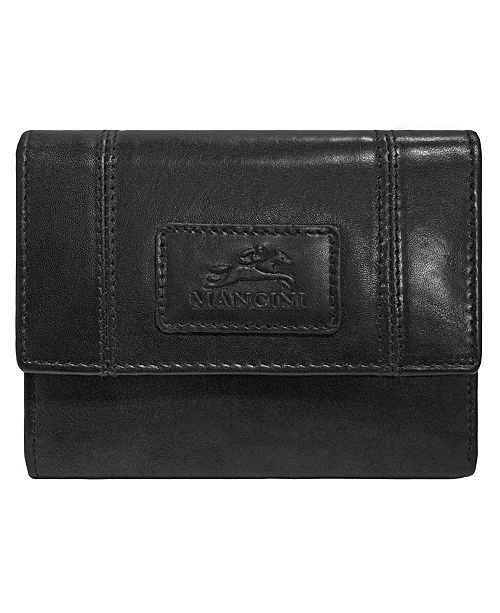 Mancini Casablanca Collection RFID Secure Ladies Small Clutch Wallet