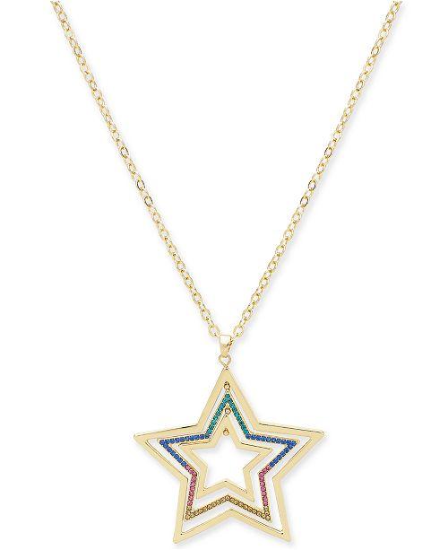"Thalia Sodi Gold-Tone Mobile Star Long Pendant Necklace, 32"" + 3"" extender, Created For Macy's"