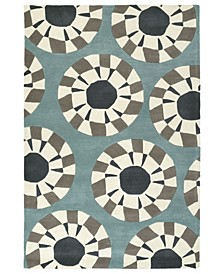 "Origami ORG03-75 Gray 5' x 7'6"" Area Rug"