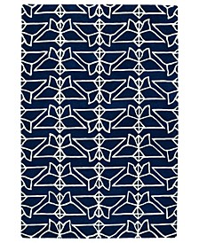 "Origami ORG07-22 Navy 5' x 7'6"" Area Rug"