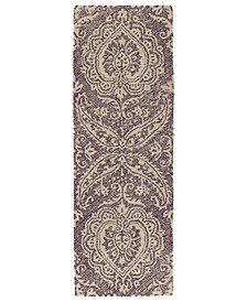 Weathered WTR01-95 Purple 3' x 10' Runner Rug