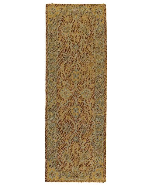 Kaleen Weathered WTR08-06 Brick 2' x 6' Runner Rug
