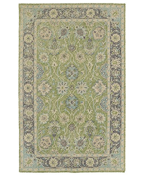 Kaleen Weathered WTR08-96 Lime Green 2' x 3' Area Rug