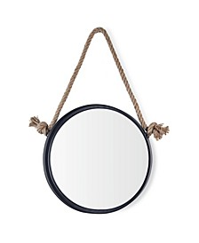 Round Accent Mirror with Hanging Rope