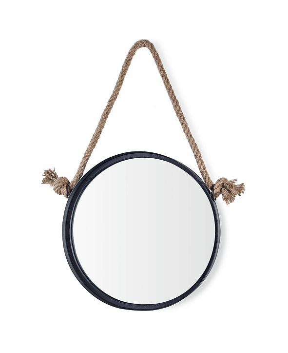 Danya B Round Accent Mirror with Hanging Rope