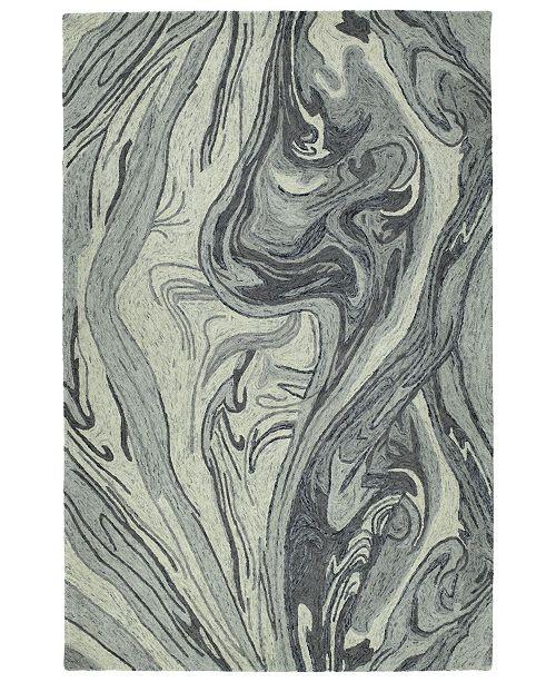 "Kaleen Marble MBL02-75 Gray 9'6"" x 13' Area Rug"