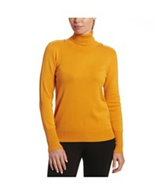 Joseph A Solid Turtleneck with Zipper Detail