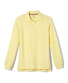 Husky Boys Long Sleeve Pique Polo Shirt