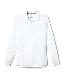 Little Boys Long Sleeve Pique Polo Shirt