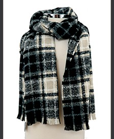 Brushed Plaid Checkered Scarf