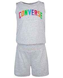 Big Girls Rainbow Logo Romper