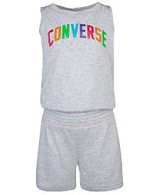 Converse Big Girls Rainbow Logo Romper