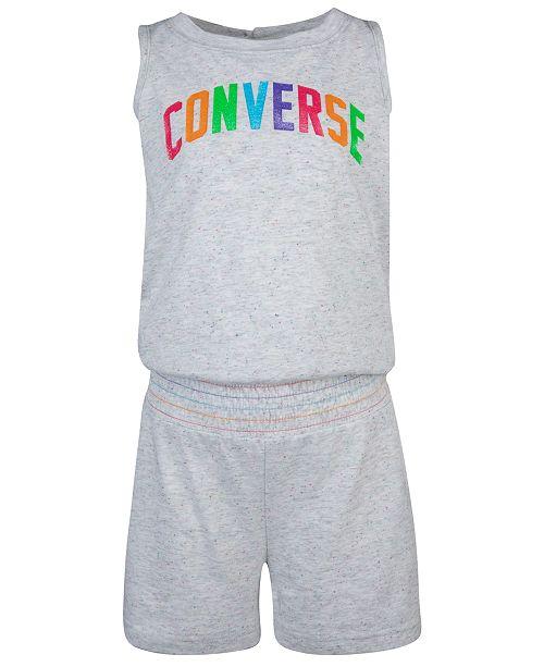 Converse Big Girls Rainbow Logo Romper