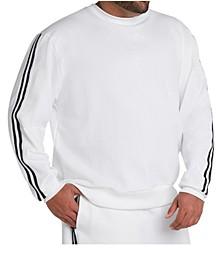 MVP Collections Men's Big & Tall Striped Sleeve Sweatshirt
