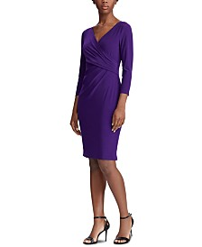 Lauren Ralph Lauren Jersey Three-Quarter-Sleeve Dress