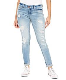Juniors' Skinny Fit Distressed Jeans
