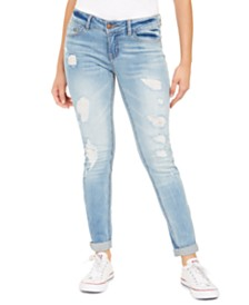 Dollhouse Juniors' Skinny Fit Distressed Jeans