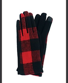 Plaid Jersey Touch Glove