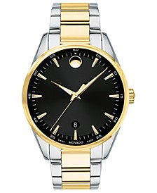 Men's Swiss Stratus Two-Tone Stainless Steel Bracelet Watch 40mm