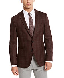 HUGO Men's Slim-Fit Plaid Sport Coat