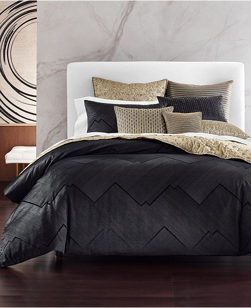 Hotel Collection CLOSEOUT! Linear Chevron Bedding Collection, Created for Macy's