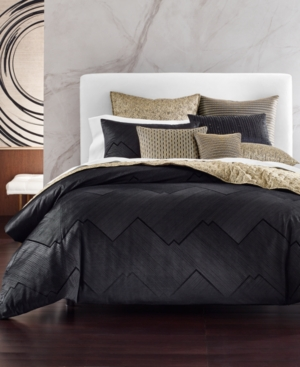 Closeout! Hotel Collection Linear Chevron Full/Queen Duvet, Created for Macy's Bedding
