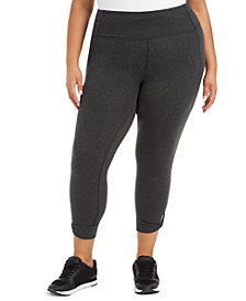 Calvin Klein Performance Plus Size Active Keyhole-Hem Leggings