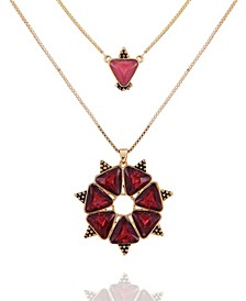 Beautifully Berry Layered Pendant Necklace