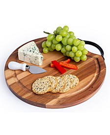 Acacia Cutting Board with Steel Handle