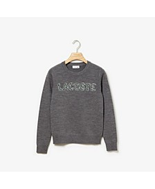 Long Sleeve Interlock Croc Logo Sweater
