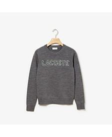 Long Sleeve Interlock Croc Logo Sweater