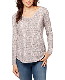 Henley Printed Top