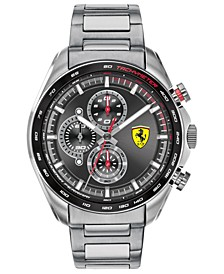 Men's Chronograph Speedracer Stainless Steel Bracelet Watch 44mm