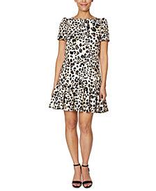 Betsey Johnson Scuba Ruffle-Hem Dress