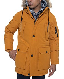 Men's Faux Fur Trimmed Multi Pocket Parka