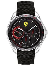 Ferrari Men's Speedracer Black Silicone Strap Watch 44mm