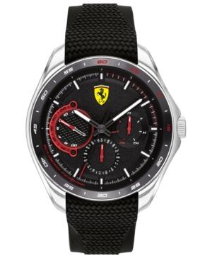 Men's Speedracer Black Silicone Strap Watch 44mm